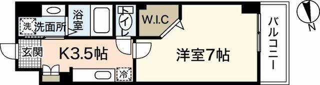 エールマンスリー宇品神田 1K 間取り